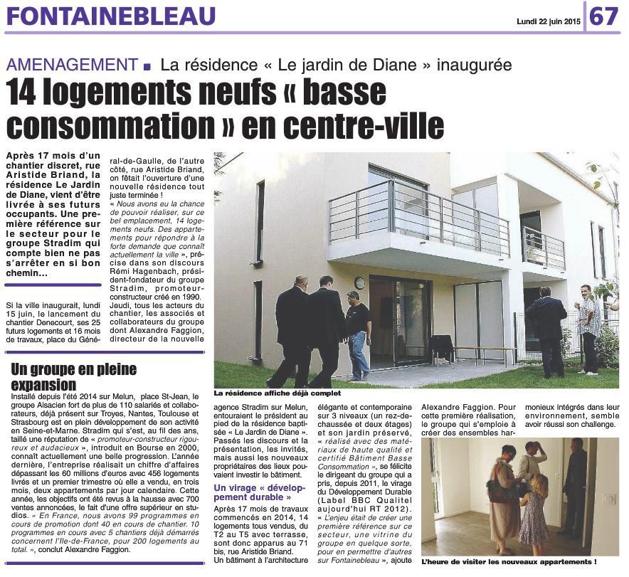 Inauguration Stradim le Jardin de Diane à Fontainebleau