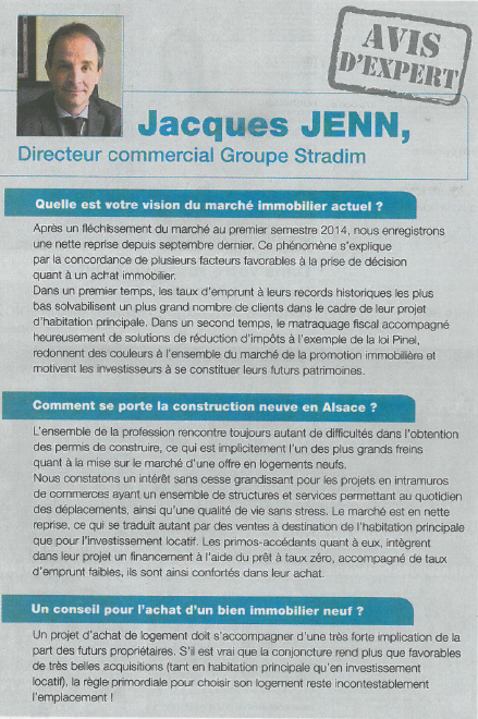 Interview de Jacques Jenn - Directeur commercial Groupe Stradim dans les DNa