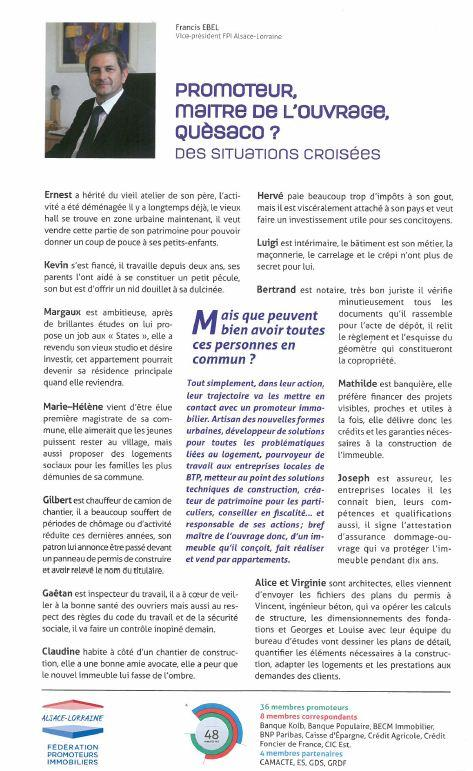 Interview de Francis Ebel Directeur General Groupe Stradim - Immobilia Magazine