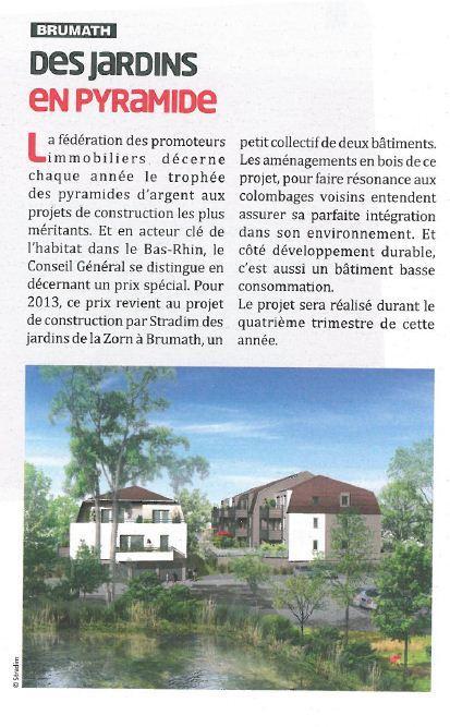 Prix du CG Bas-Rhin pour les Jardins de la Zorn à Brumath