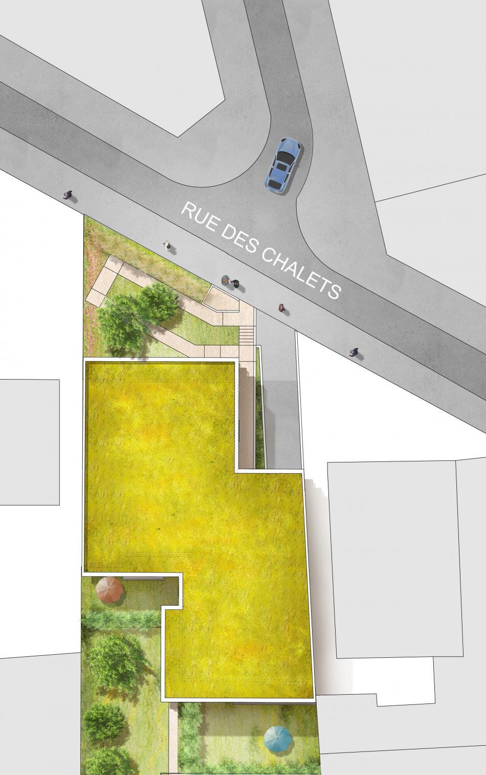 Plan de masse le Cours Chalets à Toulouse