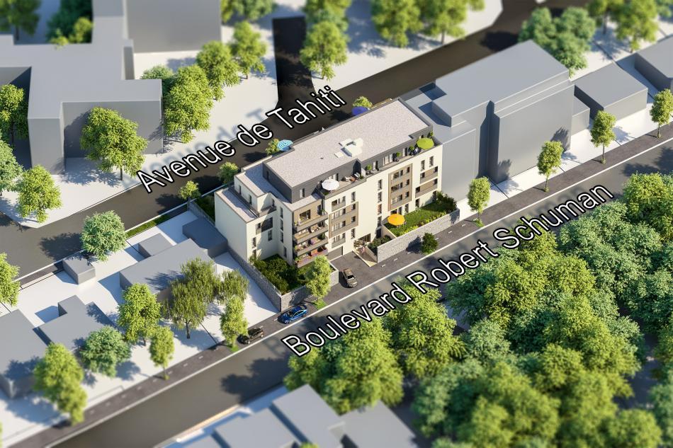 Plan masse les Terrasses Schuman à Nantes