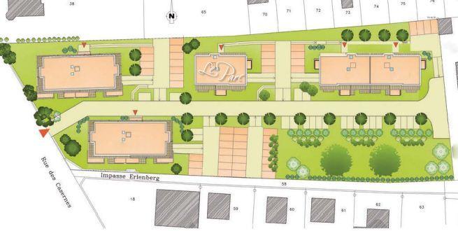 Plan de masse le Parc à Bischwiller