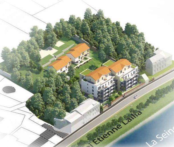 Plan de masse les Villas Rive Droite à Melun