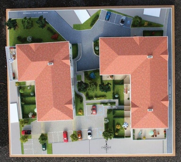 Plan de masse résidence des Dunes à Saint-Brévin