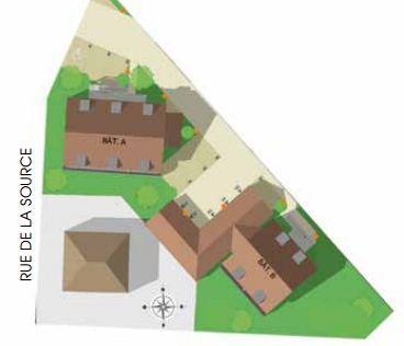 Plan de masse les Jardins d'Ettore à Molsheim