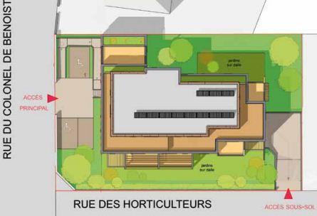 Plan de masse Square Schuman à Haguenau