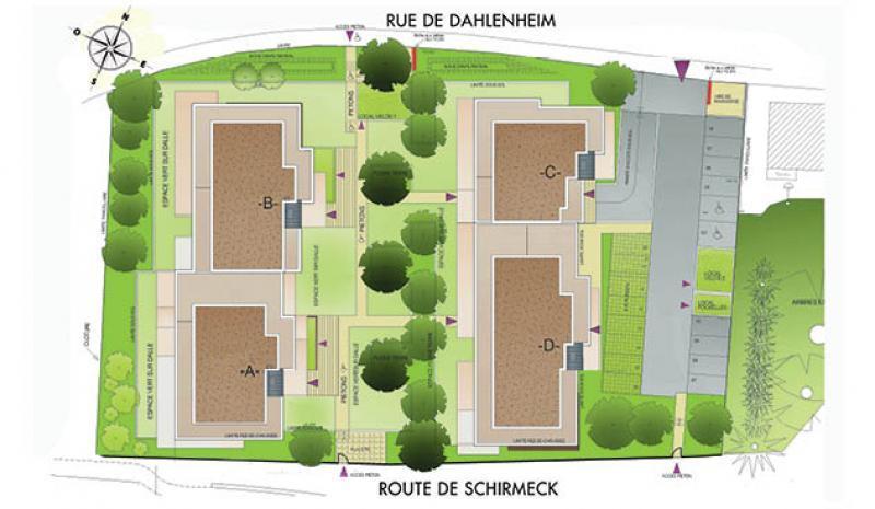 Plan de masse Villa Europa à Strasbourg