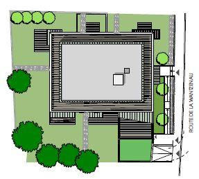 Plan de masse l'Hémicycle à la Robertsau