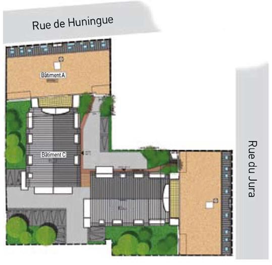 Plan de masse le Domaine des 3 Rivières à Saint-Louis