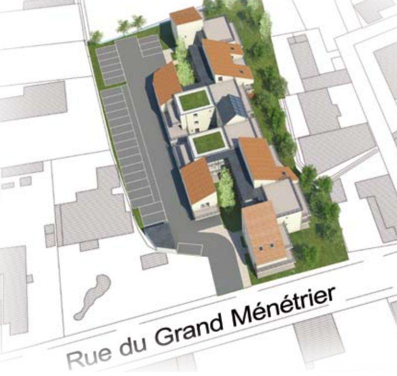 Plan de masse Plein Sud à Troyes