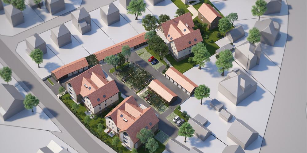 Plan masse terrasses ettore stradim molsheim