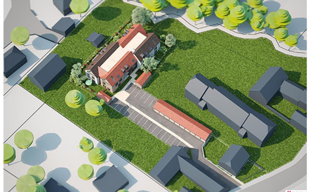 appartement-neuf-gries-stradim-coeur-village-vue-aerienne